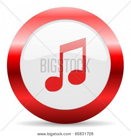 music glossy web icon