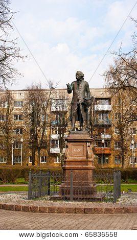 Monument Immanuel Kant In Kaliningrad