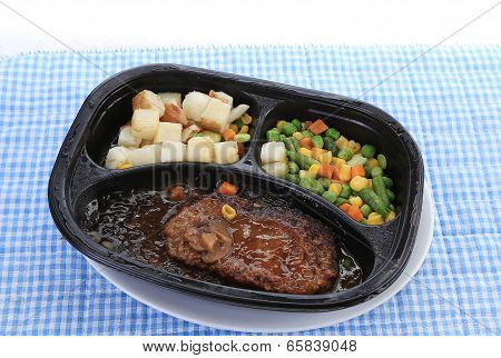 Microwave Steak Dinner