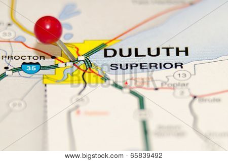 Duluth City Pin On The Map