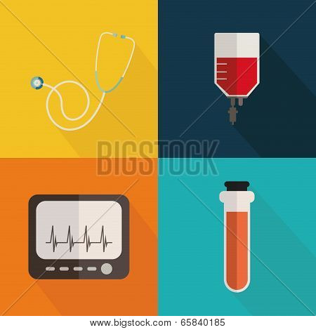 Medical tools collage