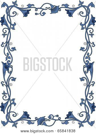 Background Illustration Featuring a Flowery Frame