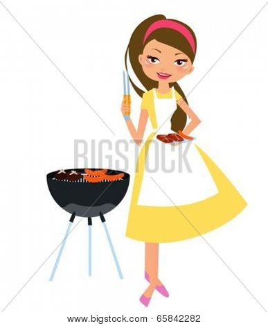 Barbecue girl