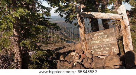 Skyline Trail Willamette National Forest High Elevation Mountain Landscape