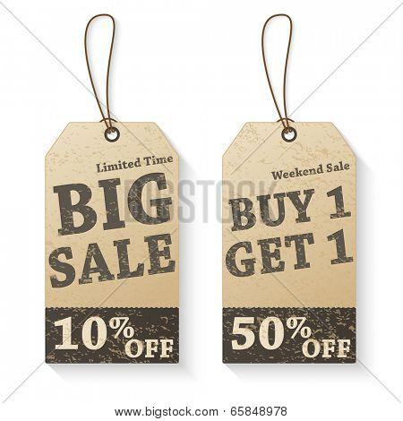 Vintage Vector Sale Tags