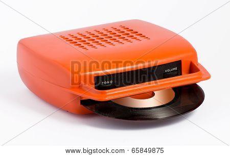 Orange Portable Record Player