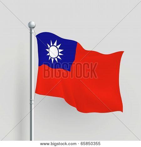 3D Vector Taiwan Flag