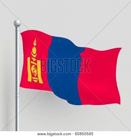 3D Vector Mongolia Flag