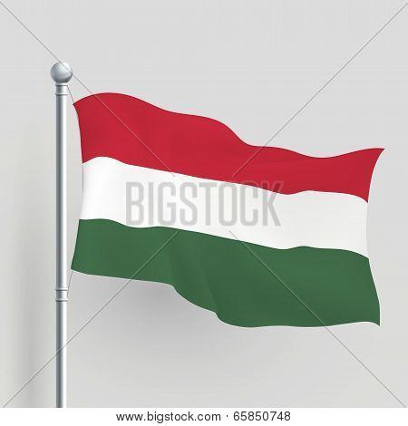 3D Vector Hungarian Flag