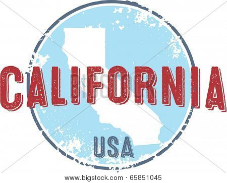 Vintage California State USA Stamp