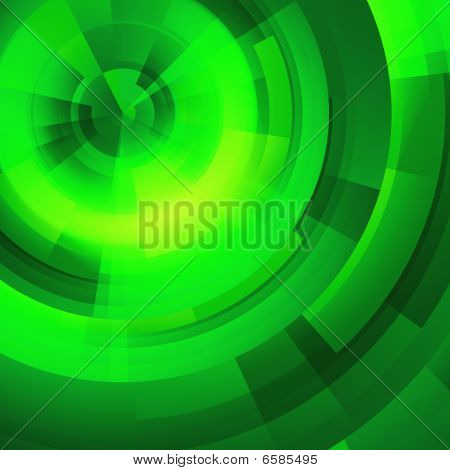 Green Circles Of Rectangular
