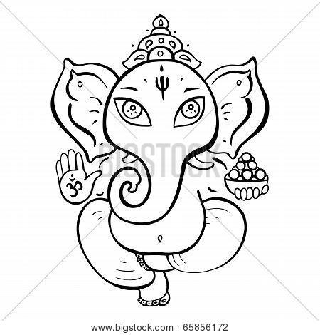 Hindu God Ganesha.