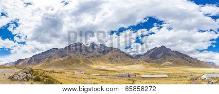 Andes, Road Cusco- Puno, Peru,south America  4910 M Above  The Longest Continental Mountain Range In