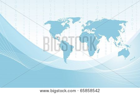 Planet Earth Informational Stream. Vector