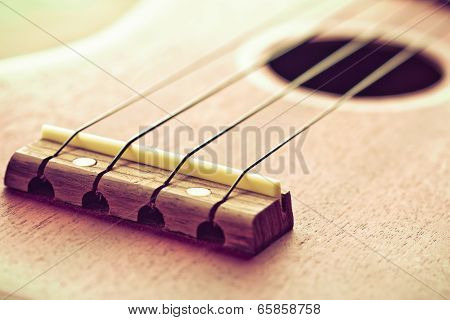 Ukulele Fretboard, Part Of Ukulele Hawaiian Guitar