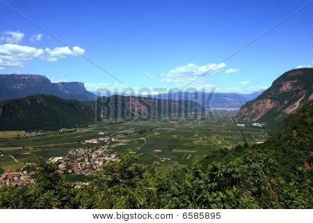 Italian alp valley near Bolzano