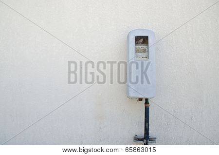 Old Electric Meter On A Wall