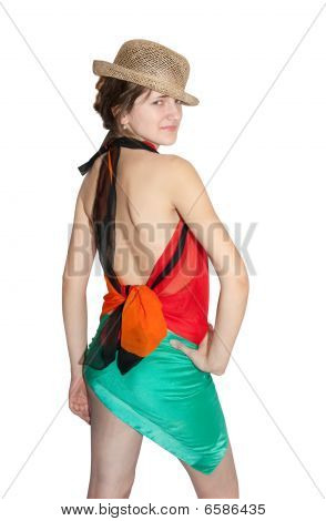 Girl Dressed In Pareo