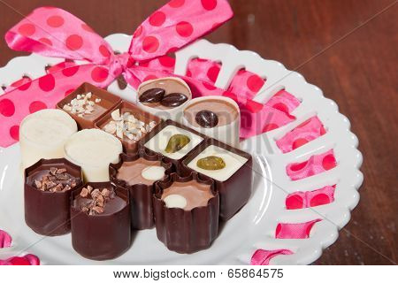 Chocolates On A Plate
