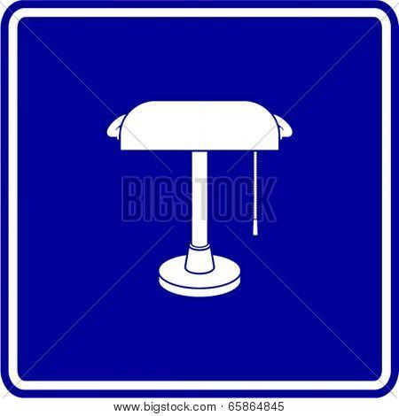 banker's lamp sign
