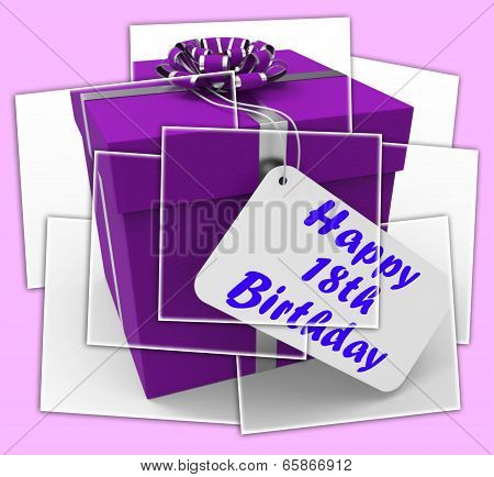 Happy 18Th Birthday Gift Displays Celebrating Eighteen Years