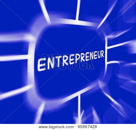 Entrepreneur Diagram Displays Business Person And Start-up