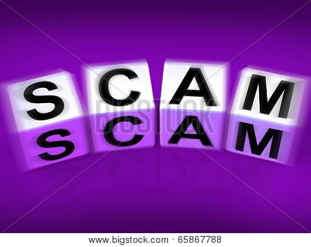 Scam Displays Fraud Scheme To Rip-off Or Deceive