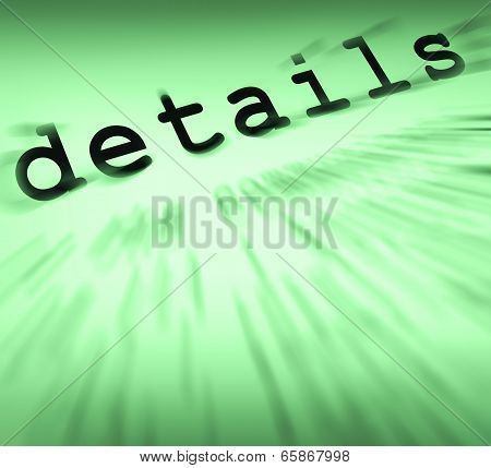 Details Definition Displays Small Significances Or Accuracy
