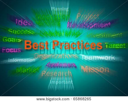 Best Practices Brainstorm Displays Optimum Business Procedures