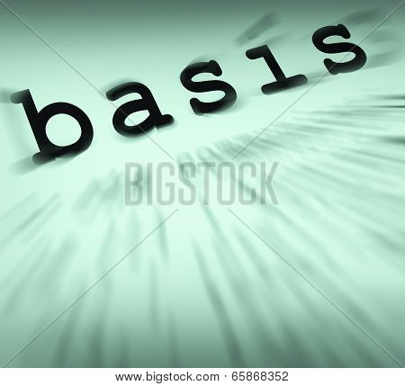 Basis Definition Displays Principles And Essential Ideas