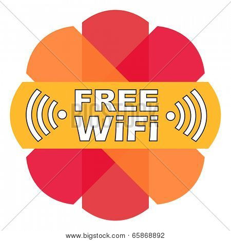 Free WiFi label.