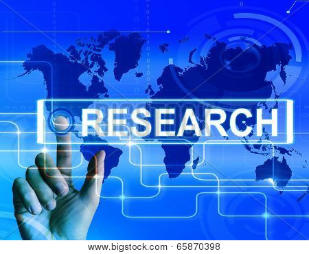 Research Map Displays Internet Researcher Or Experimental Analyzing