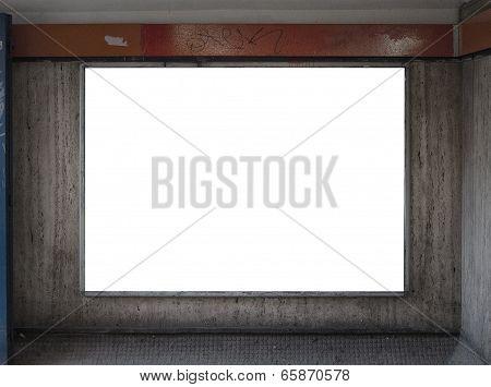 Grungy Dirty Blank Billboard