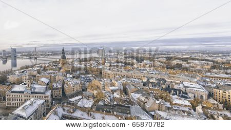 Riga Panorama Of Old Town