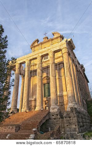 Rome Temple Of Antoninus And Faustina