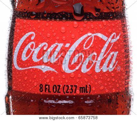 Coca-cola Bottle Closeup
