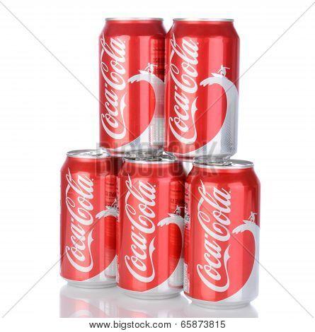 Five Cans Of Coca-cola