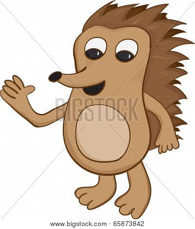 Cartoon Hedgehog Vector