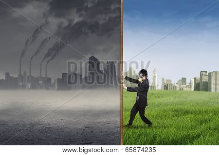 Businessman Change The Environment 1