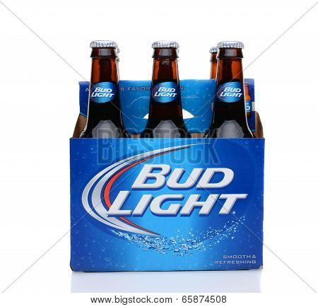 Bud Light Six Pack Side View
