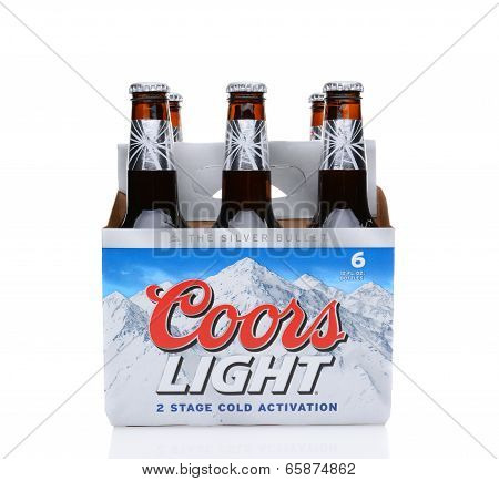 Coors Light Six Pack Side View