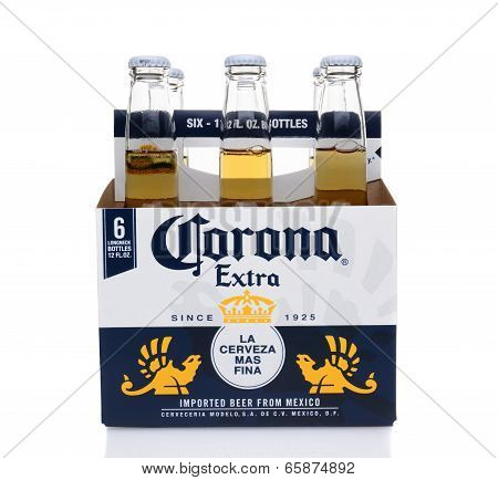 Corona Extra Six Pack Side