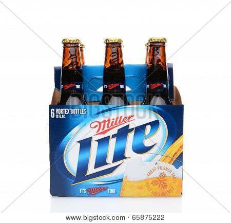 Miller Lite Six Pack Side View