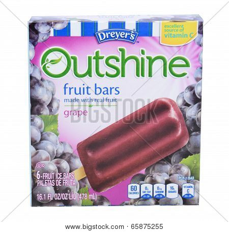 Dreyers Outshine Grape Fruit Bars