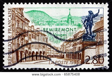 Postage Stamp France 1995 View Of Remiremont, Vosges