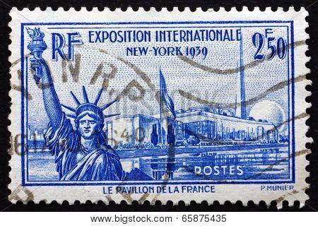 Postage Stamp France 1939 New York World's Fair