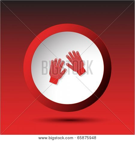 Gauntlets. Plastic button. Vector illustration.