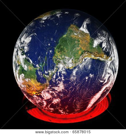 Global Warming Of The Earth By A Burner
