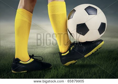 Feet Player With A Soccer Ball 2