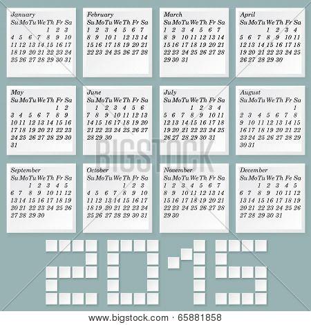 Simple 2015 Calendar.